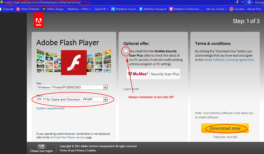 adobe flash player handy