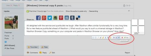 Universal copy & paste - Archived General Discussion - Maxthon Community