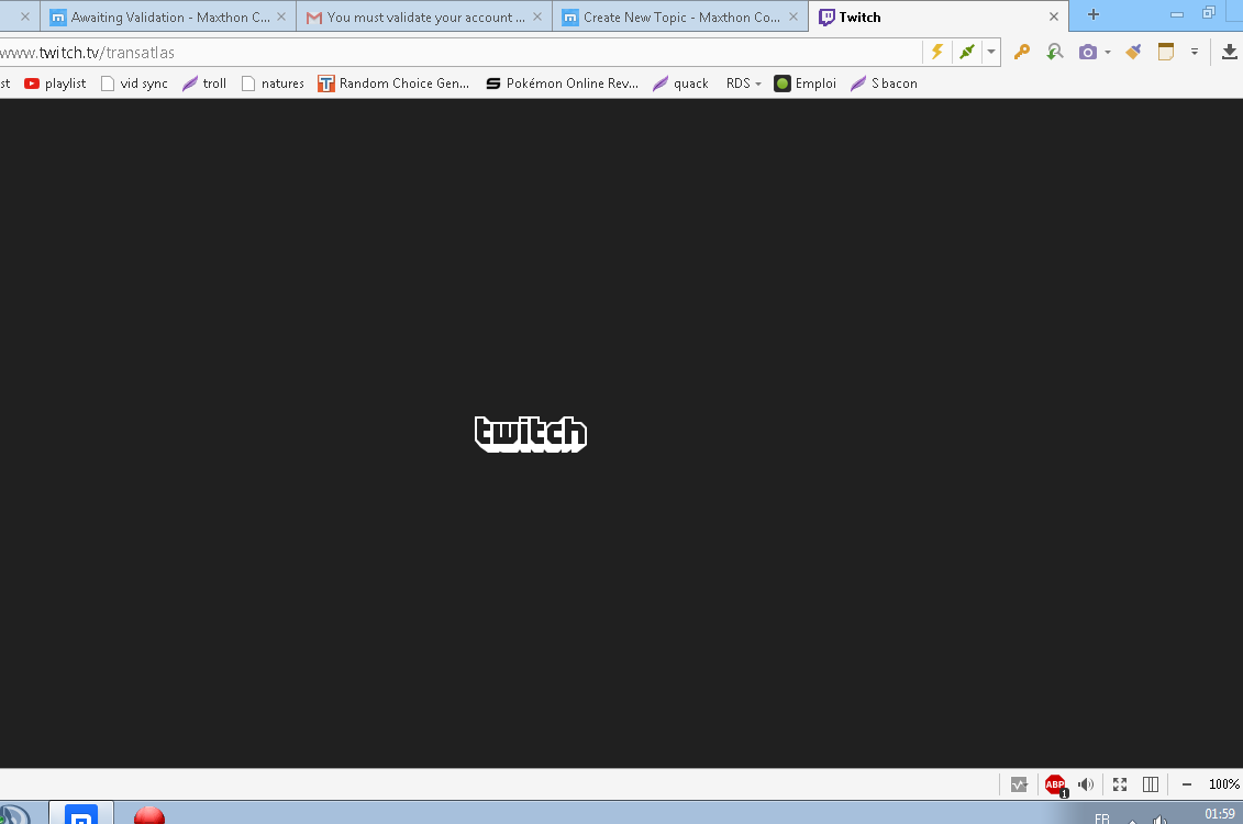Twitch channels arent loading for me - Archived General