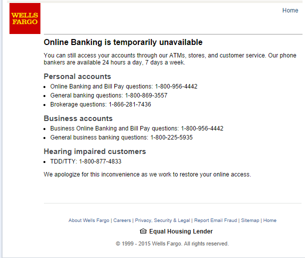 Wells Fargo Error - Archived General Discussion - Maxthon