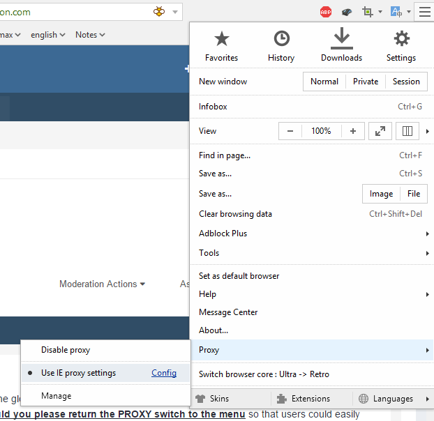 PROXY and SIGN IN AGAIN - Maxthon Support & Discussion