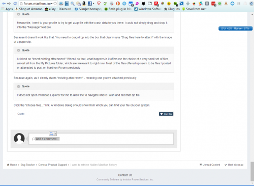 Maxthon forum not working on Slimjet.png