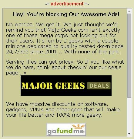 MajorGeeks Ad Blocking Message.jpg