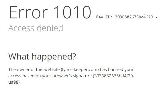 Fixing (Error 1010) ?